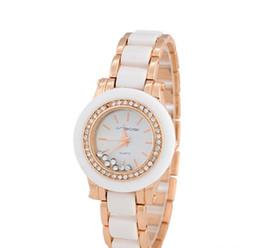 Bijoux haut de gamme, céramiques, dames, montres, diamants ronds haut de gamme, montres de mode, or rose, véritables montres-bracelets. ? partir de fabricateur