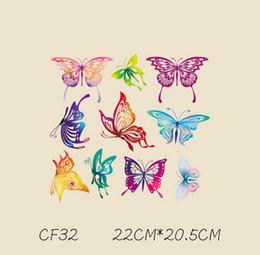 cappuccio farfalla Sconti T-shirt e felpe con cappuccio Divertenti adesivi fai da te Farfalla Uomo Donna Coppie Patch Toppe rivestite di ferro Patch per vestiti