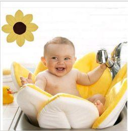 Wholesale Wholesalers For Baby Baths - Bath Mat For Baby Flower Petal Shape Super Soft Lotus Bating Tube 80cm Newborn Antiskid Foldable Mats Multicolor Free Shipping 35hz Z