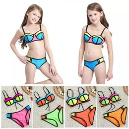 Wholesale Sexy Girls Bikini Suit - Girls Two-piece Bikini Swimwear Sexy New Fashion Swimming Suit Multi Color Bra Trunks Super Nylon Breathable Soft B11