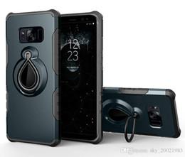 Doigt samsung cas en Ligne-Coque Antichoc Hybride Pour Samsung Galaxy S8 Plus Etui Support De Voiture Support Bague D'aspiration Magnétique Pour Galaxy S8 Couverture Armure Rotate Ring
