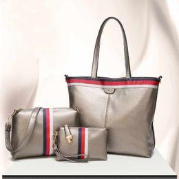 Wholesale Wholesale Designer Hand Bags - 2017 New Euramerican Plain Fashion designer women handbags Composite Bag 3pcs women hand bags casual style shoulder bags