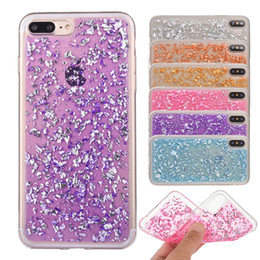 Wholesale Crystal Purple Rose - For iPhone X iPhone 8 Plus Samsung S8 S9 Plus Phone Case Bling Back Cover Case Soft TPU Glitter Crystal Case with OPP package
