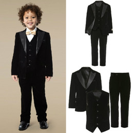 Wholesale Light Pink Tuxedo Vest - 3 Pieces Teens Tuxedo Custom Made Boys Party Formal Pant Suits Dinner Suits Wedding Groom Tuxedos For Boys(Jacket+Pants+Vest+Bowtie)