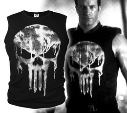 gilet punisher Sconti Punisher 3D T-shirt gilet Slim Elastic Compression T-Shirt Cosplay Costume Top Tees Ghost Shirt Skull Gilet senza maniche abbigliamento casa GGA928