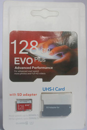 Wholesale digital plus - EVO Plus 32GB 64GB 128GB Class10 UHS-1 Micro TF SD Card for Android Powered Tablet PC Digital SmartPhones Up 80MB s EVO+