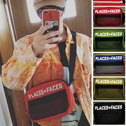 Wholesale Portable Sports - Five Colors Places + Faces Messenger Bag 3M Reflective Multicolor Sport Small Portable Bag Couple Fashion Shoulder Bags HFLSBB006