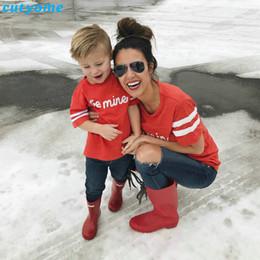madre hija tee shirts Rebajas Madre e hija Hijo Ropa Ropa familiar a juego BE MINE Camisetas de manga corta Mamá hija Trajes a juego Camisetas