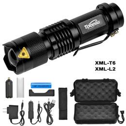 Lanterna ultrafire bateria recarregável on-line-Lanternas de LED Mini Zoom cree XML L2 T6 Lanterna Led Tocha 5 modo 3800 Lumens à prova d 'água 18650 bateria Recarregável