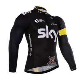 Wholesale Sky Long Sleeve Cycling Jersey - SKY team Cycling long Sleeves jersey Bicycle outdoor sports men's tops wear comfortable breathable quick-drying c1716