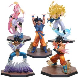 Wholesale red bombs - 5Styles Dragon Ball Z Figuarts Zero Son Goku Vegeta Kamehameha Super Saiyan 3 Gotenks Majin Buu Spirit Bomb Action Figure Toy