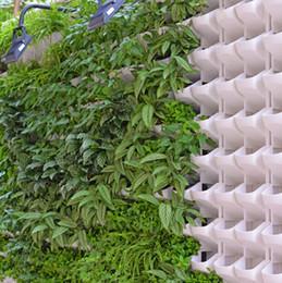 flores potted ao ar livre Desconto Resina vaso de flores de plástico por atacado planta de parede de proteção ambiental vertical interior e exterior varanda parede pendurado vaso de flores criativo