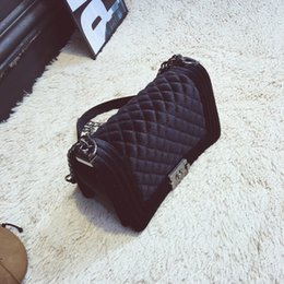 Wholesale Brand S Handbags - Brand Fashion Chain Shoulder Bag Diamond Embroidery Women\'s Bag Velvet Luxury Handbags Women Bags Designer Crossbody Bags