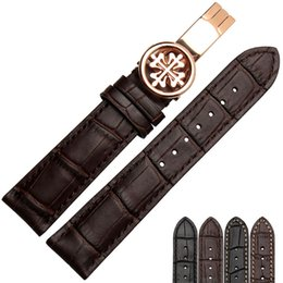 Argentina Nuevo reloj pulsera cinturón negro watchbands correa de reloj de cuero genuino banda 18 mm 19 mm 20 mm 21 mm 22 mm accesorios wristband cheap leather watch bands 18mm Suministro