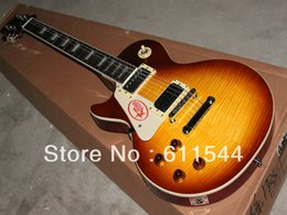 Wholesale Honey Burst Guitar - Custom Left Hand Jimmy Page Two Honey Burst VOS Electric Guitar High Quality Free Shipping