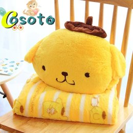 Wholesale Air Conditioned Pillow - Foreign trade cartoon cute pudding dog pillow cushion air conditioning blanket two pillow car by the office nap
