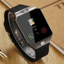 Wholesale Gold Watch Phone - Wholesale-DZ09 Smart Watch With Camera Bluetooth WristWatch Support SIM TF Card Smartwatch For Ios Android Phones
