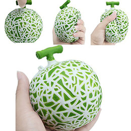 Wholesale Fun Retail - Hami Melon Squishy Jumbo Fruit Slow Rising 10CM Retail Package Phone Straps Scented Pendant Bread Cake Fun Kid Toy Gift