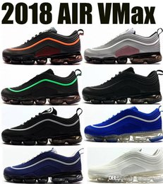 best authentic 97f67 8f250 2018 40-47 chaussures rayonnantes air printemps course max sneakers 95  sports gentils 98 mouche maille blanc exercice vapomax hommes hors sursi