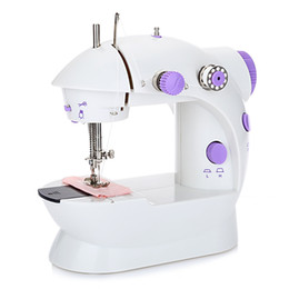 cushion pictures Coupons - Hot Mini Electric Sewing Machine Automatic Tread Rewind Sewing Machine tools Dual Speed Double Thread Power Household Desktop TB