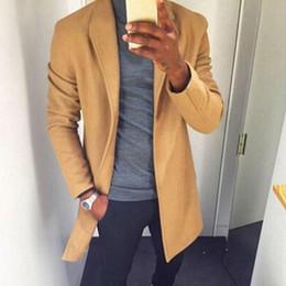vestiti classici di moda uomini Sconti Alisister Fashion Winter Uomo Trench  Long Giacche Cappotti Cappotto Classic 82a1cf482ec