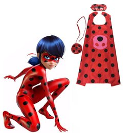 Wholesale Halloween Costumes For Cats - Miraculous Ladybug Cat Noir Cosplay Costume Miraculous Ladybug For Kids Party Halloween Christmas Clothes Mask Cloak