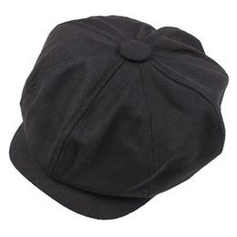 Canada Newsboy Gatsby Cap Hommes Ivy Hat Golf Conduite Hiver Froid Plat Plain Noir supplier plain black beret Offre