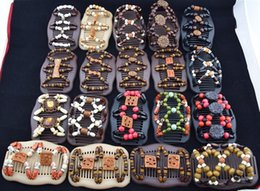 Wholesale Hot Magic Comb - Wooden Beads Hair Clips Mixed Different Styles Wood Magic Fashion Double Row Hot Accessories Hair Comb B11