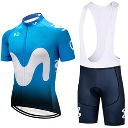 Wholesale Blue Pads - 2018 new Team Blue M cycling jersey 9D gel pad bibs shorts Ropa Ciclismo pro cycling clothing mens summer bicycle Maillot Suit