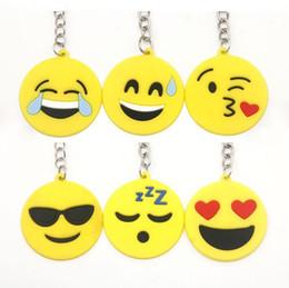 catena chiave smiley emoji Sconti Portachiavi fumetto smiley Emoji Portachiavi giocattolo 4cm Mini Emoji Smaili Ciondolo Emotion Ciondolo borsa bambola gialla