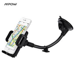 Basis telefon auto online-Großhandel Universal Car Mount lange Arm Windschutzscheibe Dashboard Easy Touch und Anti-Rutsch-Base Car Phone Holder für 4,0-6,0 Zoll Telefone