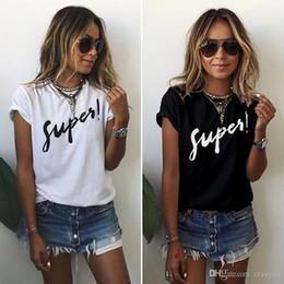 Top punk rock en Ligne-PLUS SIZE S-5XL Nouvelle Mode Casual Femmes T-shirts, Plus La Taille Sans Manches D'été Rock Punk Style Lettre En Vrac Femme T-shirt Noir Blanc Tops