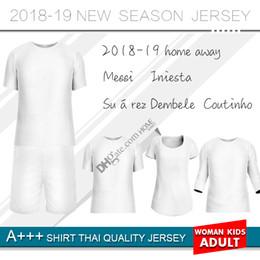 camisa suárez Rebajas 2019 casa Fútbol Jersey 18 19 casa Fútbol camiseta personalizada O.DEMBELE SUAREZ equipo del club tercer uniforme de fútbol 2018 camiseta personalizada