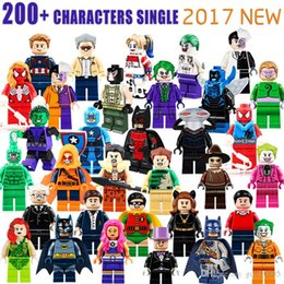 Wholesale Action Figure Heroes - 600+ Building Blocks Super Hero Figures Toys The Avengers Toys Joker Toys mini Action Figures Bricks minifig Christmas gifts