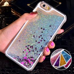 NOUVEAU luxe luxe paillettes sable QuickSand Star Case pour iphone 4 4S 5 5S SE 6 6S 7 8 Plus X 10 Transparent Clear Hard Cover ? partir de fabricateur