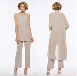 5feac5fa32 mother bride beach wedding dresses chiffon Australia - Mother of the Bride  Dresses Pant Suit 3