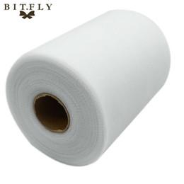 """ткань для пейсли Скидка C белый цвет 6 """" X100 Ярд матовый тюль рулон катушки 6 дюймов x 100 ярдов (6 дюймов x 300 футов) пачка свадебный подарок партии лук 20D"""