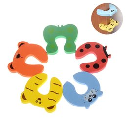 Wholesale Arc Products - 5 Pcs lot Baby Safety Edge Corner Guards Baby Head Protector Cartoon Child Protection Safety Door Stopper Care Products