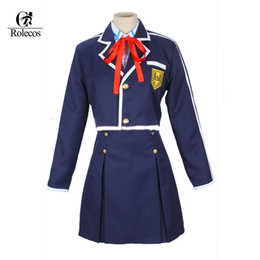 Wholesale Japanese Female School Uniforms - Hot Japanese Anime Sword Art Online Asuna Cosplay Costumes School Uniform