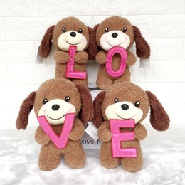 Wholesale Cute Love Dolls - Creative cute LOVE puppy LOVE dog dolls stuffed animals toys valentine's day gift plush toys wholesale A