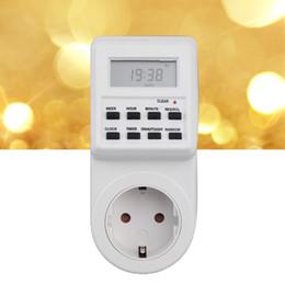 Canada Nouveau 230V Plug-in Économie d'énergie Programmable Minuterie Socket Switch avec Horloge Été Heure Fonction aléatoire EU Plug supplier eu function Offre