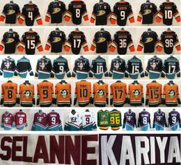 571c3ef05 Anaheim Ducks 8 Teemu Selanne 9 Paul Kariya 10 Corey Perry 15 Ryan Getzlaf  17 Ryan Kesler Gibson 96 Jersey de hockey Charlie Conway