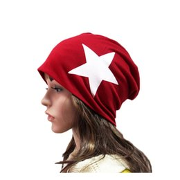 46 cap Coupons - Woman Winter Hat Beanie For Men Five-pointed Star Hats Knitted Cap Warm Ski Hat Trendy Soft Brand Thick Female Caps A-46