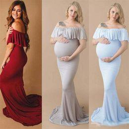 d8c1012c8 2019 lunghi abiti estivi per le donne in gravidanza Summer pregnant women Vestito  per fotografia Puntelli