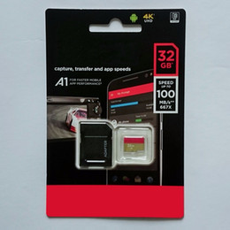 Wholesale 32gb Sdhc Memory Cards - 2018 New Black 95MB S 32GB 64GB 128GB 256GB C10 TF Flash Memory Card Class 10 Free SD Adapter Retail Blister Package Epacket DHL Free Shippi