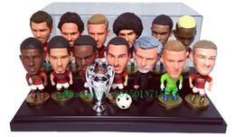 Wholesale 12 Inch Figures - Soccerwe Football Star Doll Permier League ( 2018 Season ) Player Figure 2.55 Inches Pogba Morata Sanchez Jesus De Gea Puppets