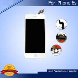 заменить экран телефона Скидка Для нового белого iPhone 6S более яркий класс A +++ ЖК-дисплей 4.7 дюймов с сенсорным экраном дигитайзер замена бесплатная доставка