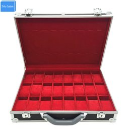 Wholesale Organizers For Suitcases - China Supplier for Watch Suitcase Aluminum Box Handle Holders Organizer 24 Travel Watch Case, Watch Exhibition Travel Case Luggage Box