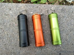Wholesale car capsule - Portable Mini Outdoor Waterproof Tank Aluminum Alloy Capsule Seal Bottle Case - Hiking Camping EDC Box Container Holder 3 Colors