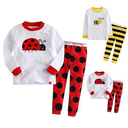Wholesale Yellow Pants For Baby - 2016 Fashion Kids Baby Children Cotton T-shirt Top+Pants Pajamas Set Sleepwear Outfit Clothing for 2-7y kid